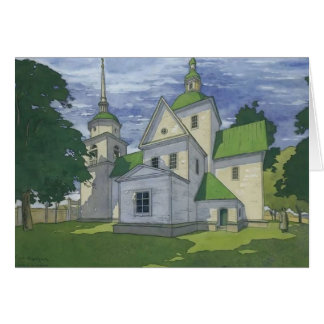 Heorhiy Narbut- Church of the Nativity Card
