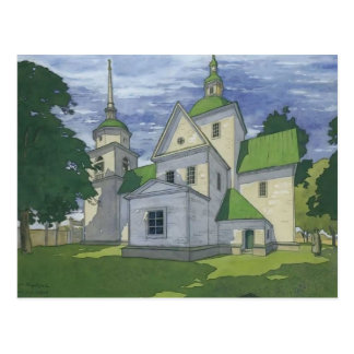 Heorhiy Narbut- Church of the Nativity Postcard