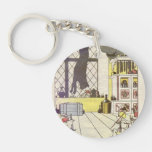 Heorhiy Narbut-How mice buried the cat Single-Sided Round Acrylic Keychain