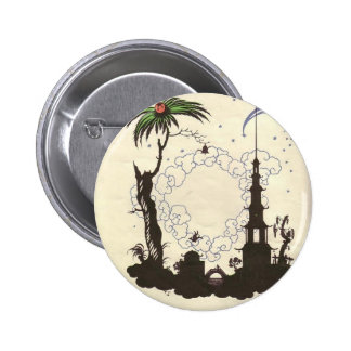 Heorhiy Narbut- Illustration to 'Nightingale' Pinback Button