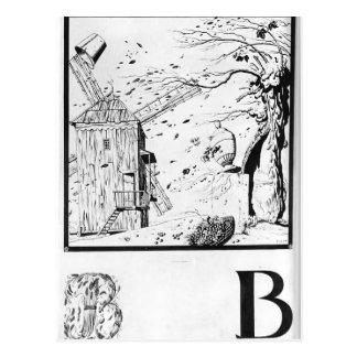 Heorhiy Narbut-Sheet 'V' from 'Ukrainian alphabet' Postcard