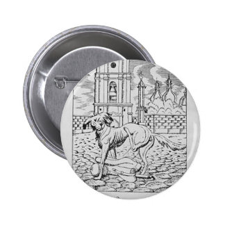 Heorhiy Narbut- Urinating dog Pinback Button