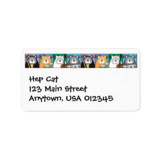 Hep Cat Address Avery Label