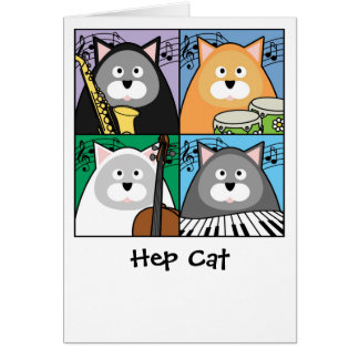 Hep Cat Card