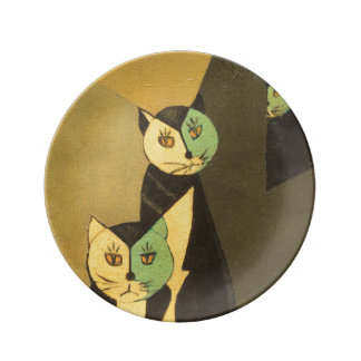 Hep Cats - A Thrift Store Treasure Porcelain Plates