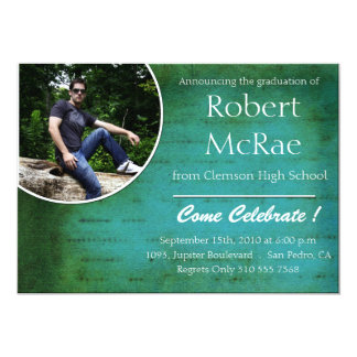 Hep -Grunge photo graduation cards