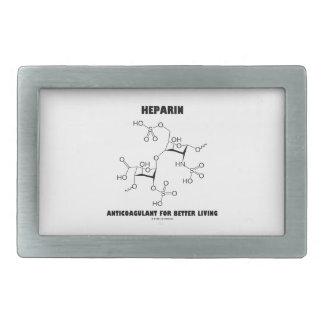 Heparin Anticoagulant For Better Living (Molecule) Rectangular Belt Buckles