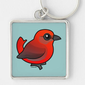 Hepatic Tanager Keychain