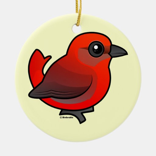 Hepatic Tanager Ornaments