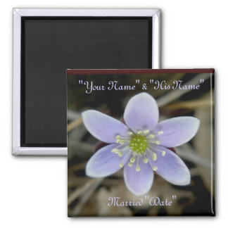 Hepatica Wedding Rememberance Magnet