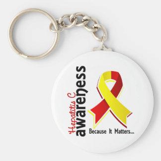 Hepatitis C Awareness 5 Keychain