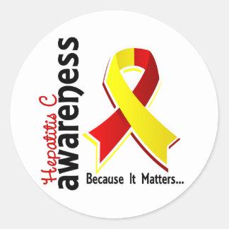 Hepatitis C Awareness 5 Round Sticker