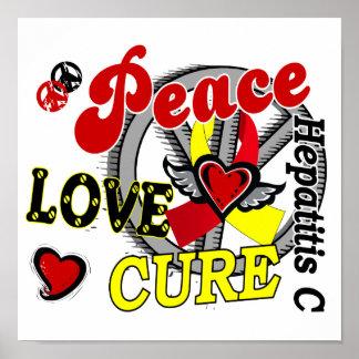 Hepatitis C de la curación 2 del amor de la paz Posters