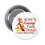 Hepatitis C de la fuerza 3 de la fe del valor de l Pin Redondo 5 Cm