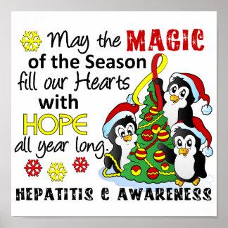 Hepatitis C de los pingüinos del navidad Poster
