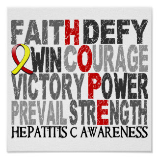 Hepatitis C del collage de la palabra de la espera Posters