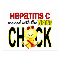 Hepatitis C Messed With Wrong Chick Postcard