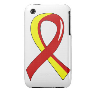 Hepatitis C Red Yellow Ribbon 3 iPhone 3 Case-Mate Cases