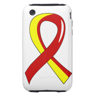 Hepatitis C Red Yellow Ribbon 3 Tough iPhone 3 Cover