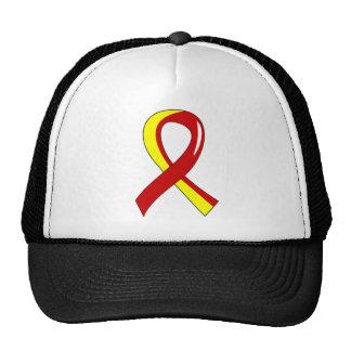 Hepatitis C Red Yellow Ribbon 3 Trucker Hat
