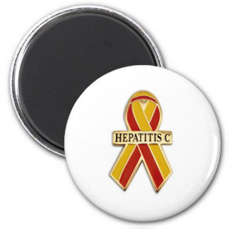 Hepatitis C Ribbon Products 2 Inch Round Magnet