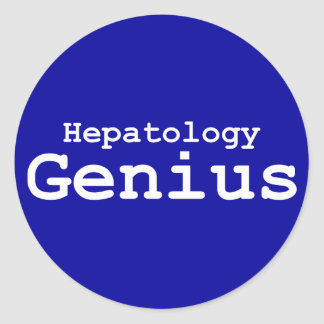 Hepatology Genius Gifts Classic Round Sticker