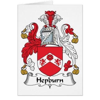 Hepburn Family Crest Greeting Card