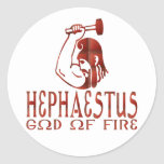 Hephaestus Pegatina Redonda