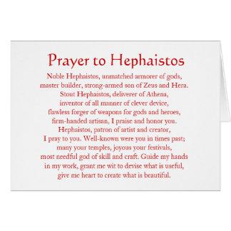 Hephaistos (Hephaestus) Notecard Tarjeta Pequeña