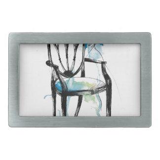 Hepplewhite Chair - Watercolor Belt Buckle