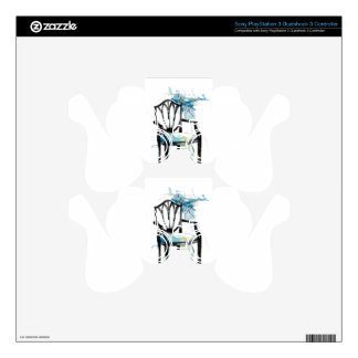 Hepplewhite Chair - Watercolor Decal For PS3 Controller