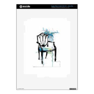 Hepplewhite Chair - Watercolor iPad 3 Skin