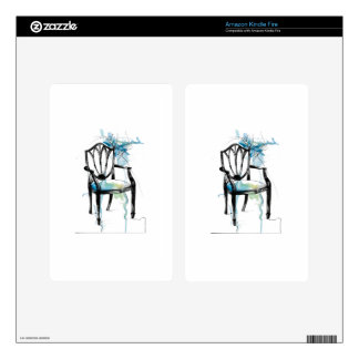 Hepplewhite Chair - Watercolor Skin For Kindle Fire