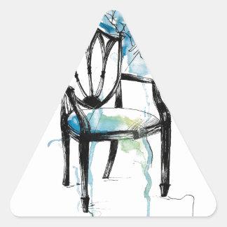 Hepplewhite Chair - Watercolor Triangle Sticker