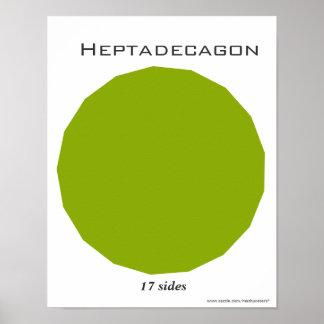 Heptadecagon Poster of Polygon