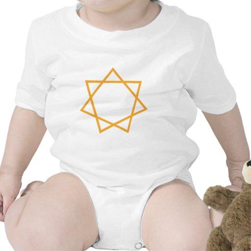Heptagram anaranjado traje de bebé