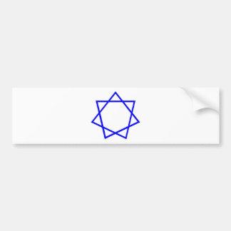 Heptagram azul pegatina de parachoque