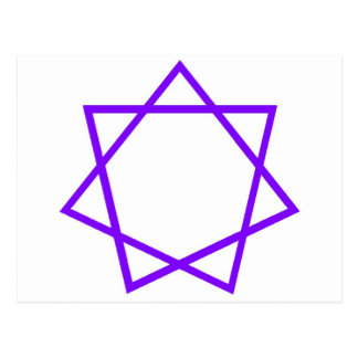Heptagram púrpura postal