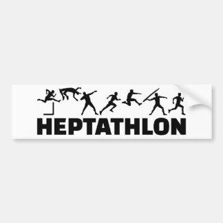 Heptathlon Bumper Sticker
