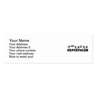 Heptathlon Mini Business Card