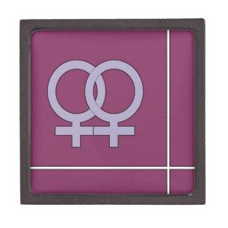 Her and Her Purple Premium Jewelry Box