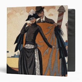 Her and Him, Fashion Illustration, 1921 (pochoir p 3 Ring Binder