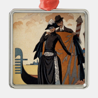 Her and Him, Fashion Illustration, 1921 (pochoir p Metal Ornament