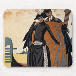 Her and Him, Fashion Illustration, 1921 (pochoir p Mouse Pad