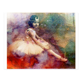 HER BALLET DREAMS POSTCARD