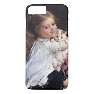 Her Best Friend | Little Girl With Kitten iPhone 7 Plus Case