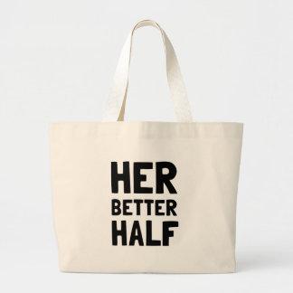 Her Better Half Large Tote Bag