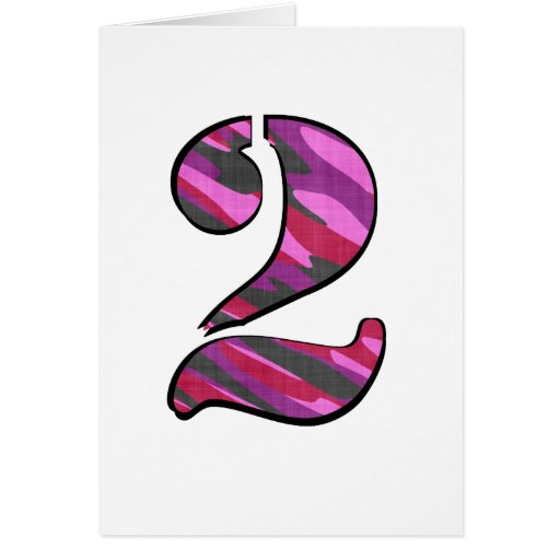 Her Camo Numbered Series Greeting Card