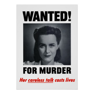 Her Careless Talk Costs Lives Poster