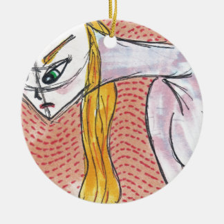 Her Changing Moods Ceramic Ornament